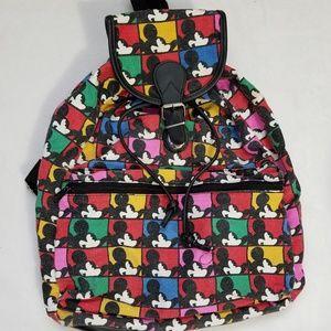 DISNEY Mickey Mouse Canvas Drawstring Backpack Bag